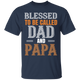 Blessed To Be Called Dad And Papa - Mens T-shirt - Multiple Color - G500 5.3 oz. T-Shirt