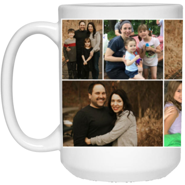 21504 15 oz. White Mug - Custom Collage Mug for Theresa Ledbetter - CustomTeesGifts