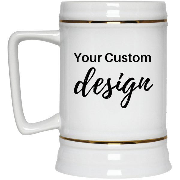 Personalized Beer Stein 22oz. | Design Your Own Custom Beer Stein - CustomTeesGifts