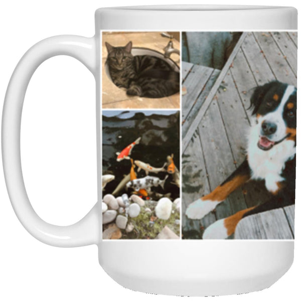 21504 15 oz. White Mug - Custom Collage Mug for Phoebee Cadrez - Revised