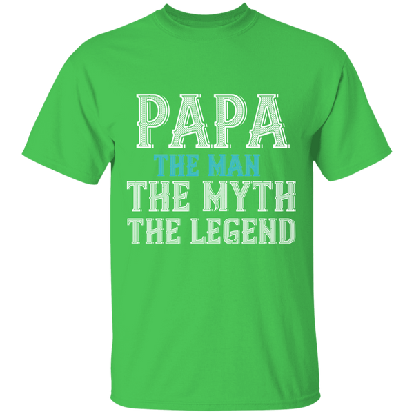 Papa The Man, The Myth, The Legend - Mens T-shirt - Multiple Color - G500 5.3 oz. T-Shirt - CustomTeesGifts