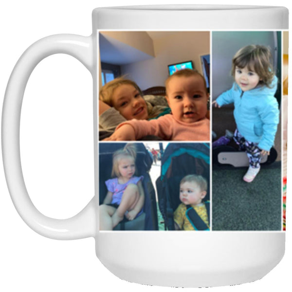 21504 15 oz. White Mug - Custom Collage Mug for Rebecca Kaim