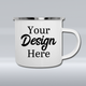 Personalized Camping Mugs | Custom Enamel Camping Mugs | Design Your Own Camper Mug