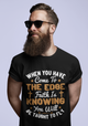 When you have come to the edge, faith is knowing you will be taught to fly - G500 5.3 oz. T-Shirt
