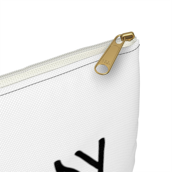 Custom Accessory Pouch for Valerie Colucci, Size: Large, Zipper Color: White - CustomTeesGifts