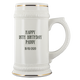 22oz White Custom Beer Stein for David Penney