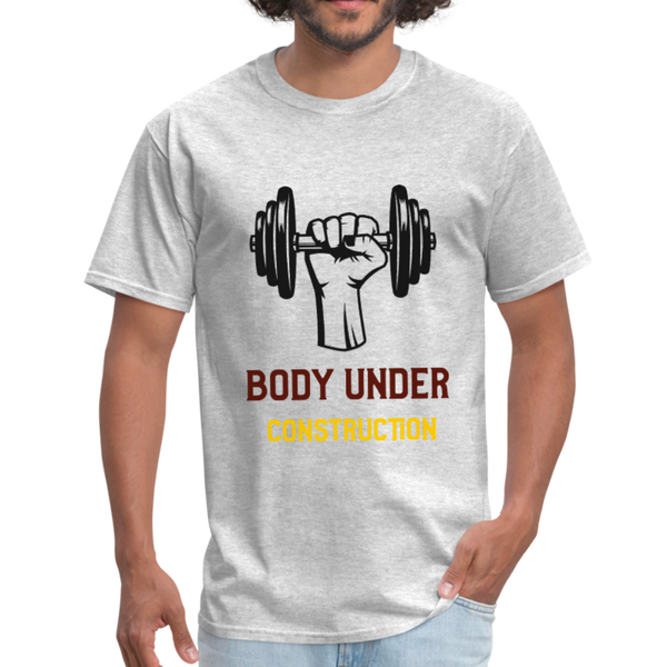 Body Under Construction - Men's T-Shirt - Fitness T- Shirt - CustomTeesGifts