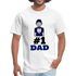 #1 Dad Men's T-Shirt - Father's Day - CustomTeesGifts