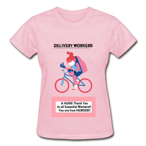 Delivery Workers - Gildan Ultra Cotton Ladies T-Shirt - CustomTeesGifts