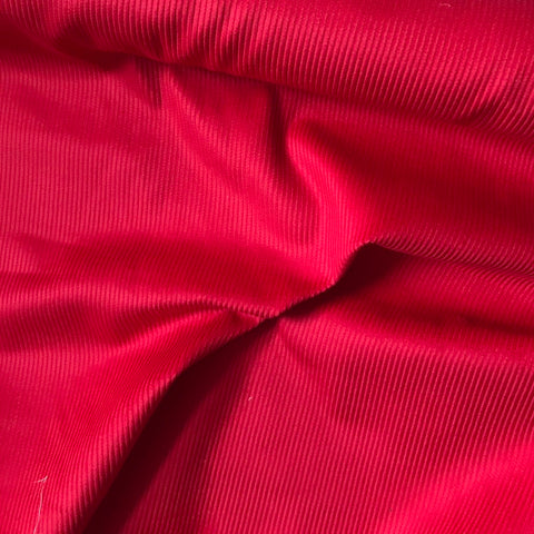 8 Wale Cotton Corduroy - Red