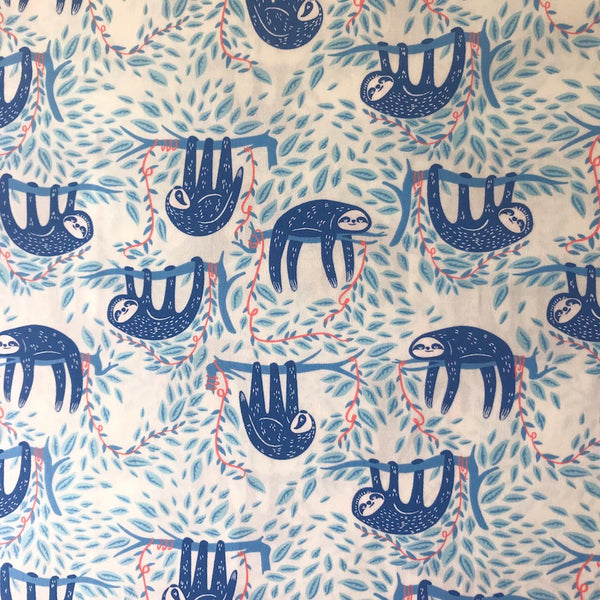 Swaying Sloths Sky - Selva - Art Gallery Fabrics Cotton