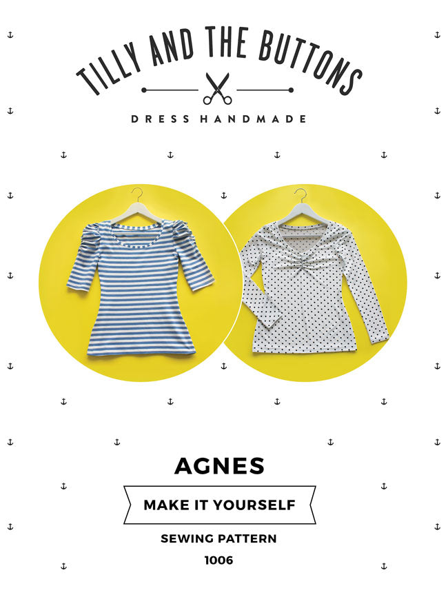 Tilly And The Buttons Agnes Top Sewing Pattern