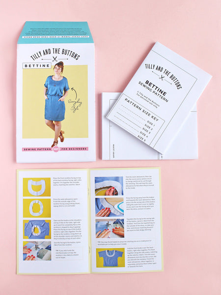 Bettine Dress Sewing Pattern by Tilly And The Buttons