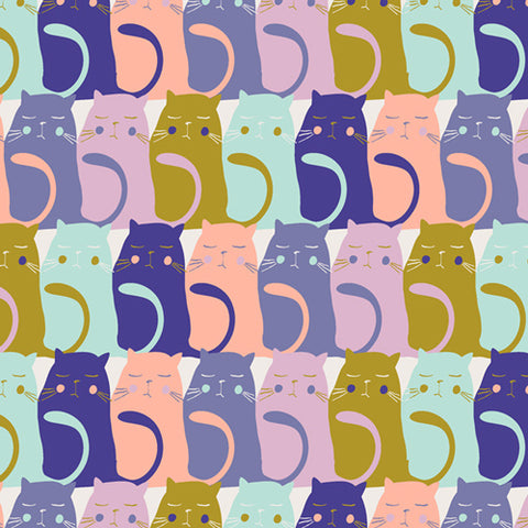 Catitude Slumber from Oh Meow by Art Gallery Fabrics