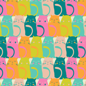 Catitude Snooze from Oh Meow by Art Gallery Fabrics