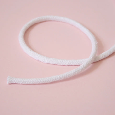 Cotton Piping Cord, 5mm - White