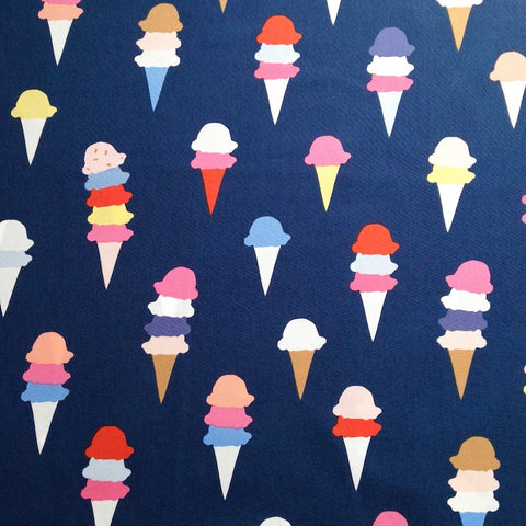 Ice Cream Cotton Poplin - I Scream You Scream - Art Gallery Fabrics