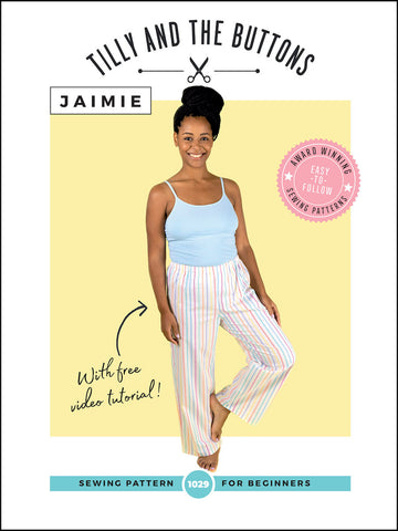 Jaimie Pyjama Bottoms & Shorts Sewing Pattern by Tilly and the Buttons