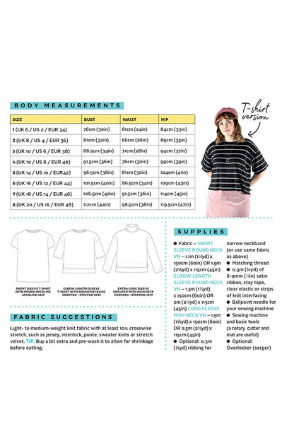 Tilly and the Buttons Nora Top Sewing Pattern