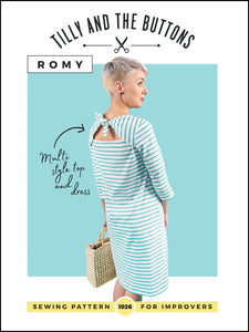 Romy Top and Dress Sewing Pattern by Tilly and the Buttons