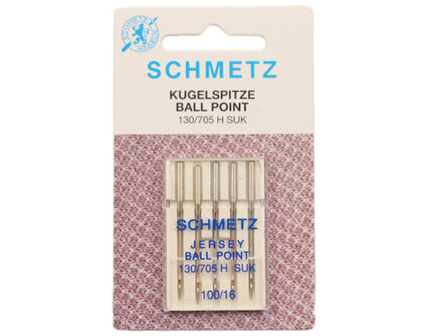 Schmetz Jersey/Ballpoint Sewing Machine Needles, Size 100 - 5 pack