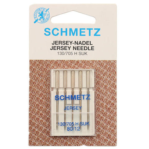 Schmetz Jersey/Ballpoint Sewing Machine Needles, Size 80 - 5 pack