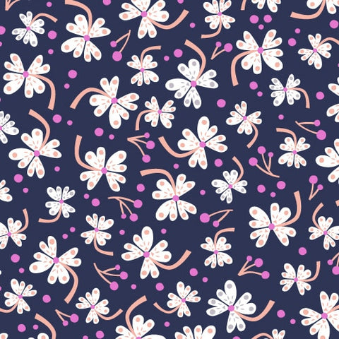 Dashwood Studio - Lost Treasures - Floral on Navy