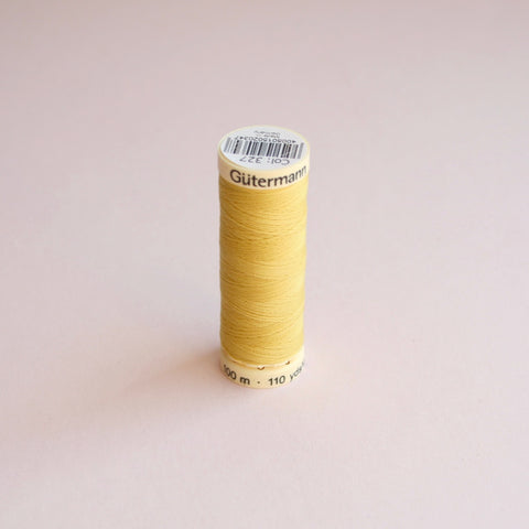 Gütermann Sew-All Polyester Thread Spool 100m - 327- Yellow