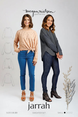 Jarrah Sweater Sewing Pattern by Megan Nielsen
