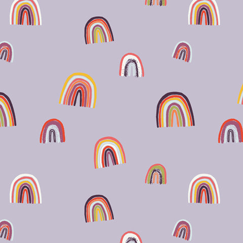Rainbows on Lilac - Kushukuru - Art Gallery Fabrics