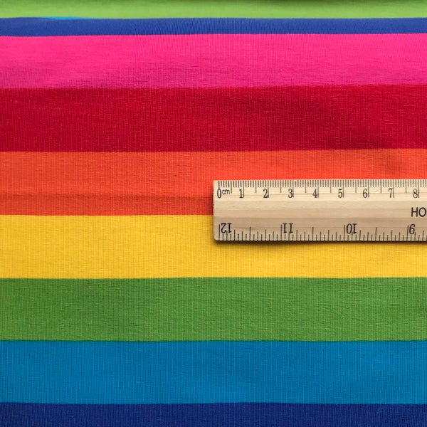 Jumbo Rainbow Stripe Cotton Jersey
