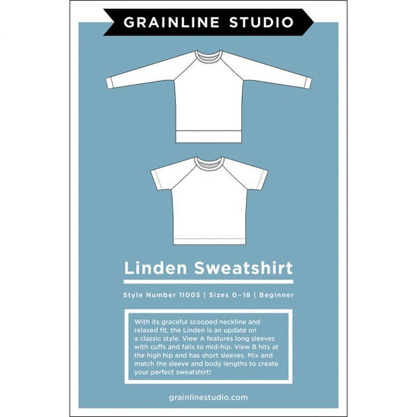 Linden Sweatshirt Pattern by Grainline Studio