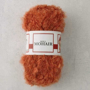 Orange Waldorf Doll Hair - Mohair Bouclé Yarn - 50g ball