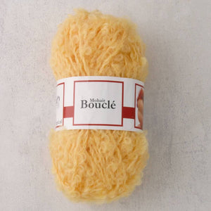 Yellow Waldorf Doll Hair - Mohair Bouclé Yarn - 50g ball