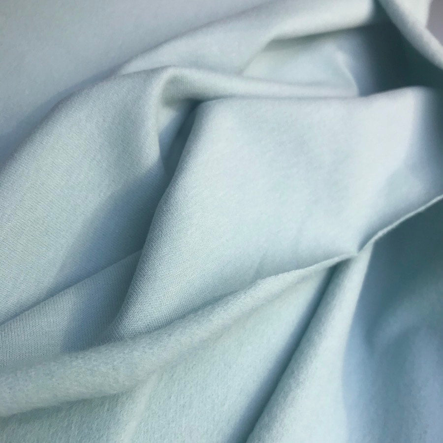 Super Soft Organic Sweatshirt Fabric - Light Aqua