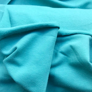 Super Soft Organic Sweatshirt Fabric - Light Petrol