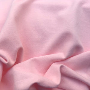 Super Soft Organic Sweatshirt Fabric - Pale Pink
