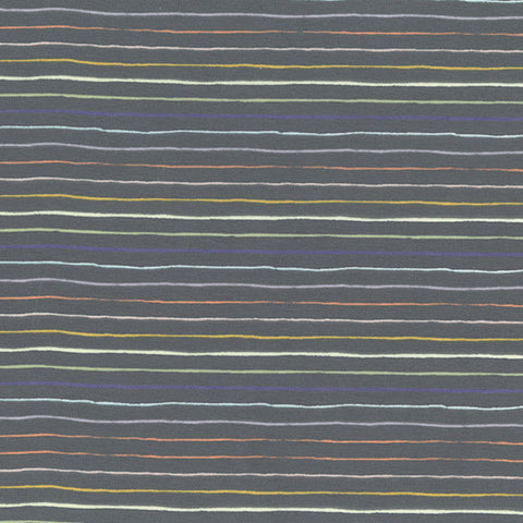Paint Stripe Cotton Jersey Grey - Per Half Metre