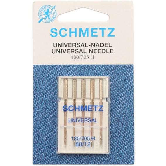 Schmetz Sewing Machine Needles - Universal, Size 80 - Pack of 5