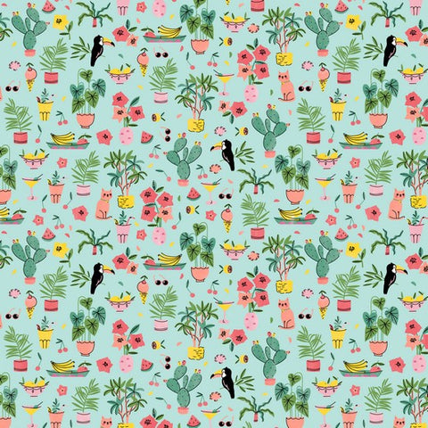 Tropical Summer Cotton Poplin