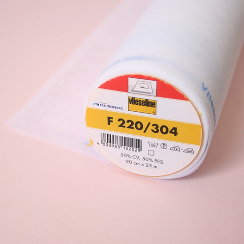 Vilene F220/304 Light to Medium Iron-on Fusible Interfacing - White