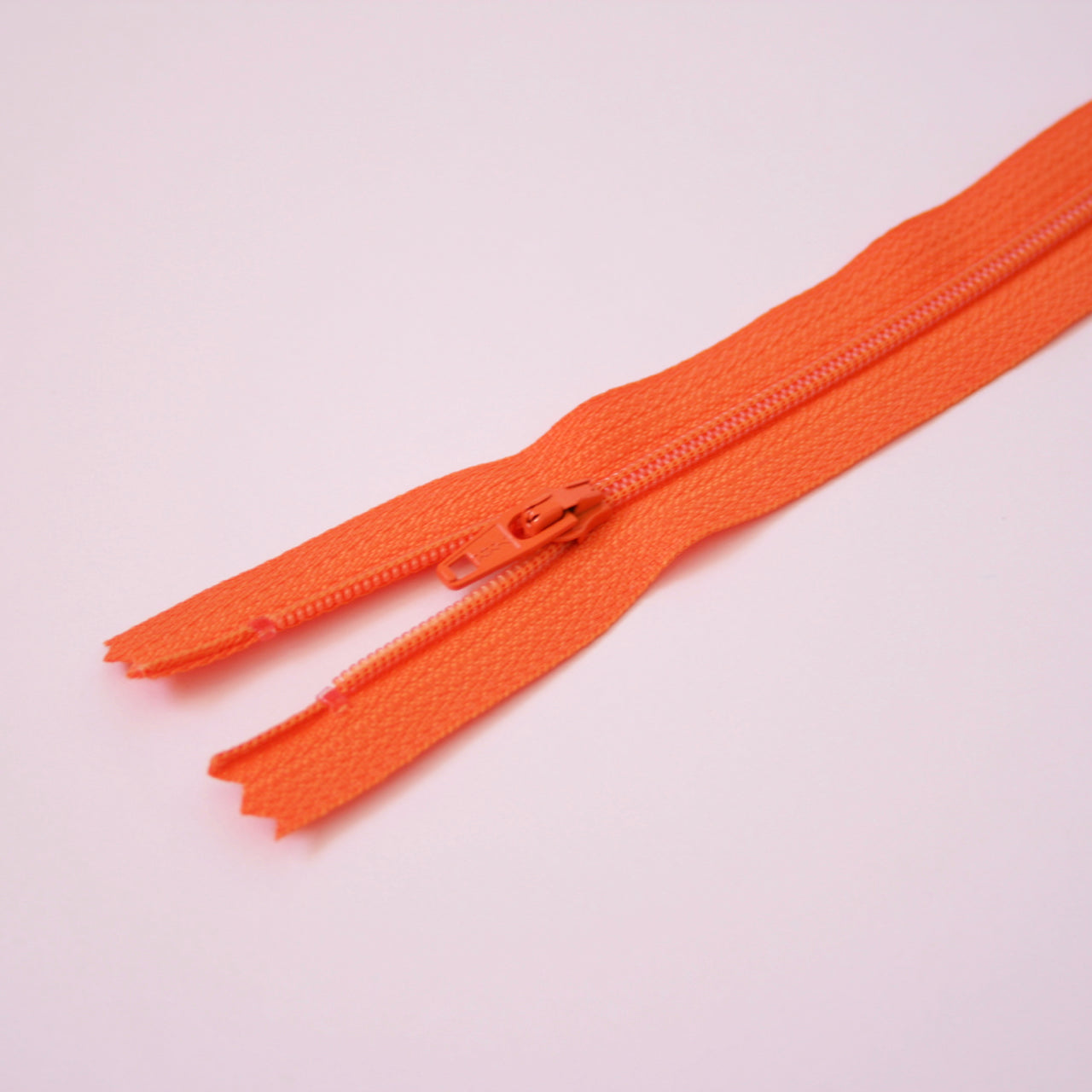 23cm 9 Inch Nylon YKK Dress Zip - 523 Orange