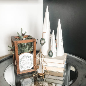 Simple Side Table Styling - Christmas