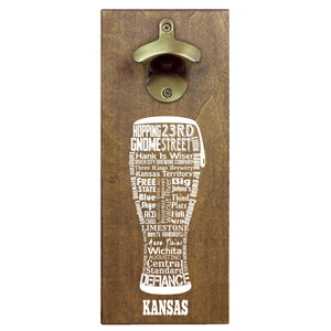 Craft Beer Typography Cap Catching Magnetic Bottle Openers
