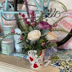 heart cup arrangement - 308