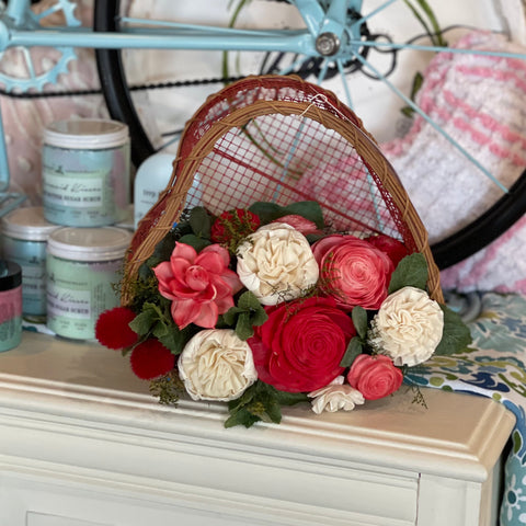 heart basket arrangement - 297