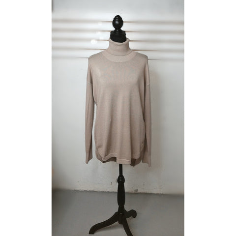 Tan lightweight turtleneck