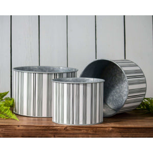 Ticking Stripe Planters