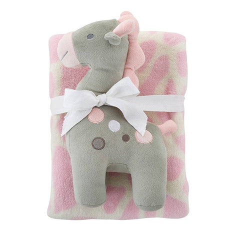 Pink Giraffe Toy/Banket Set
