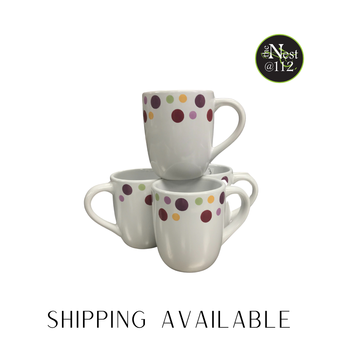 polka dot mug set
